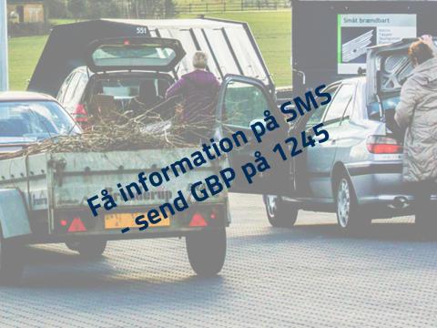 SMS-service for genbrugspladser