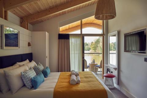 Waterside Lodge Bedroom at Elveden Forest