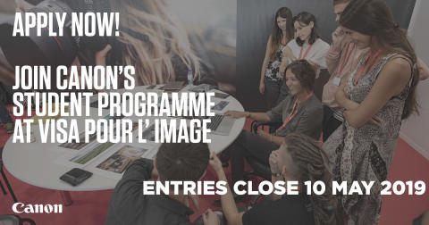 Canon bjuder framtidens stjärnfotografer på tre-dagars workshop under Visa Pour L'Image