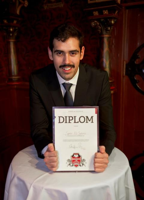 Samir El-Sabini vinnare i Business Law Challenge