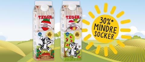 Tigers möter föräldrars önskemål om lägre sockerhalt i barnyoghurt