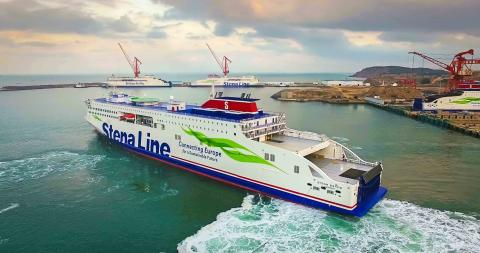Stena Estrid departs china for Irish sea