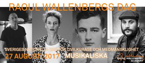 Petter, Daniel Boyacioglu, Anna Ekström och Nina Rung står upp för civilkurage och medmänsklighet