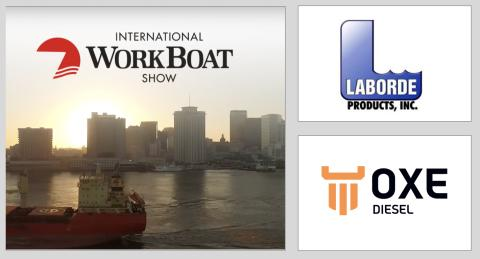 OXE Diesel displayed at International Workboat Show by Laborde Products Inc. 4 to 6 December