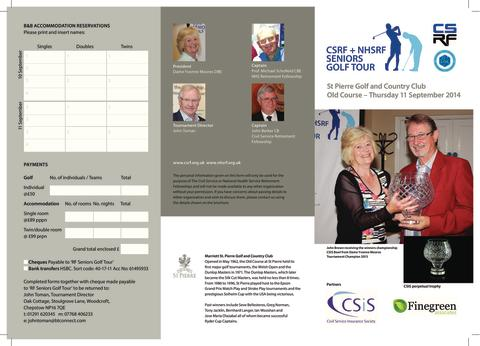 CSRF + NHSRF SENIORS GOLF TOUR
