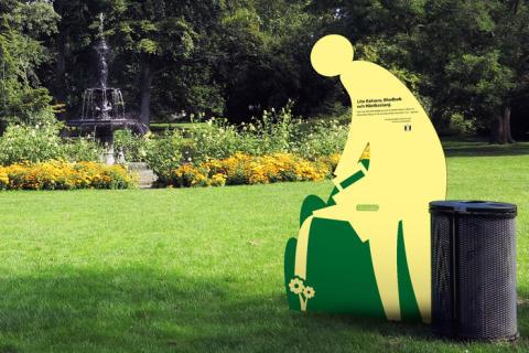 40 gula figurer syns på stan