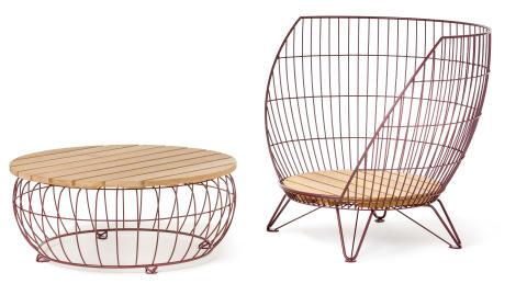 Small Basket armchair, design Ola Gillgren