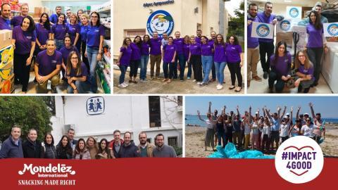 Χρονιά εθελοντισμού και φιλανθρωπίας το 2019 για τη Mondelēz  και τους εργαζόμενους της
