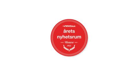 """TDC fick utmärkelsen """"Årets Nyhetsrum 2013"""""""