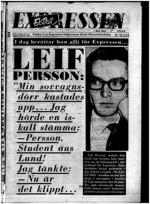 Expressens förstasida