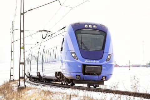 Bättre punktlighet för skånska tåg under 2019