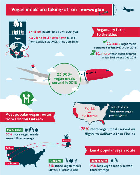 Vegan flights infographic