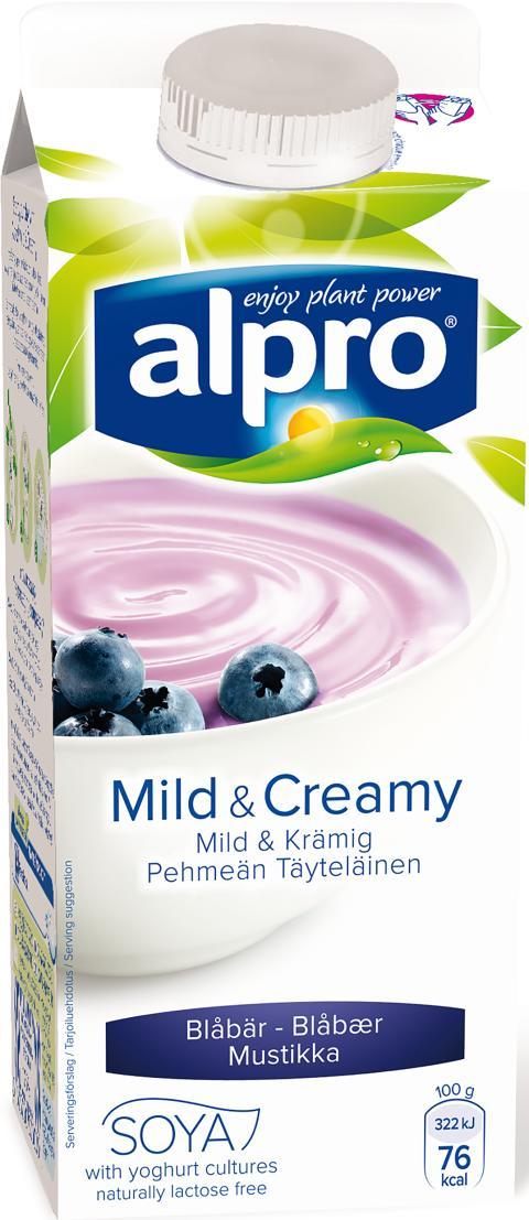 Alpro Mild & Creamy Blåbär