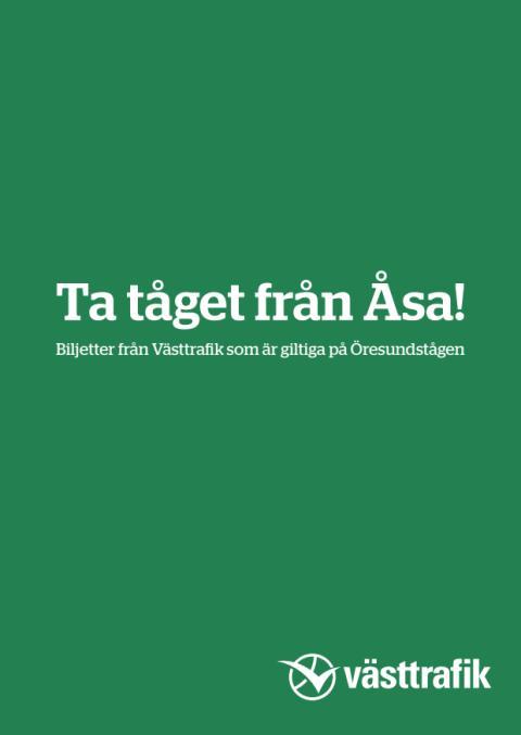 Ta tåget från Åsa!