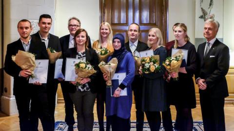 """Pristagare vid """"Årets Framtidsbyggare"""" prisutdelning 2016"""