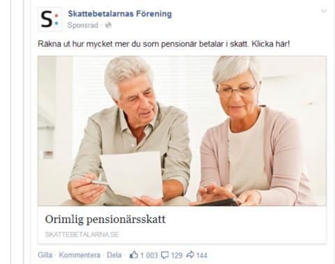 Kampanj mot pensionärsskatten Bild 3