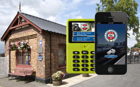 Kent & East Sussex Railway and imagineear launch app and multimedia guide