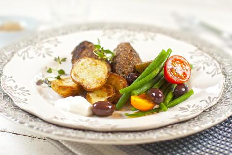 Köttfärsbiffar med Fetaost