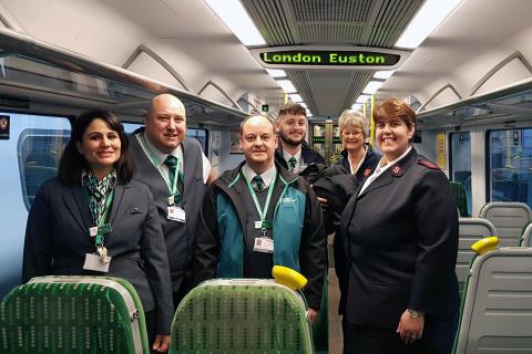 Euston uniform handover