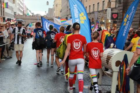 Svenska Ridsportförbundet i Prideparaden