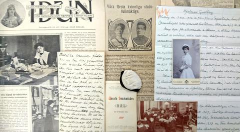 Kvinnlig bibliotekspionjär träder fram ur KB:s arkiv