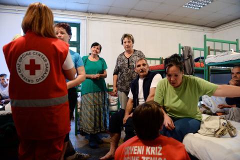 Evakueringsscenter i Bosnien