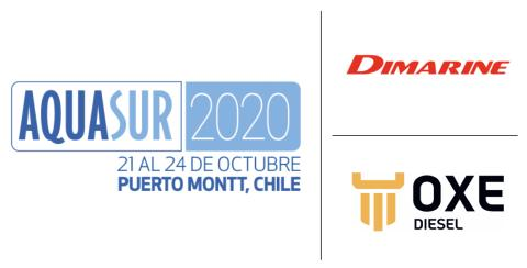 OXE Diesel displayed at AQUASUR by Dimarine 21 - 24 October