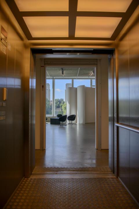 Scanner (Robin Rimbaud), Hiss concète, 2012. Foto: Olle Kirchmeier/Bonniers Konsthall