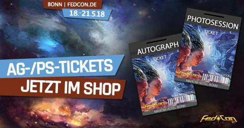 FedCon 2018: Autogramm- und Fotosession-Tickets jetzt bequem im Ticket-Shop bestellen