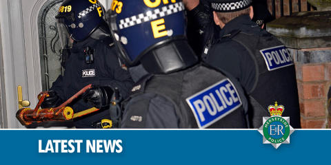 Four arrested and drugs and suspected stolen goods seized following warrant in St Helens