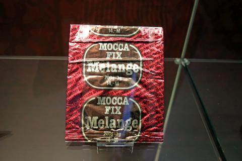 """Im Museum """"Zum Arabischen Coffe Baum"""" sind u.a. Verpackungen von verschiedenen Kaffeesorten zu sehen"""