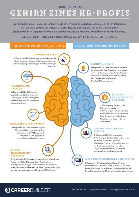 Infografik: Einblicke in das Gehirn eines HR-Profis