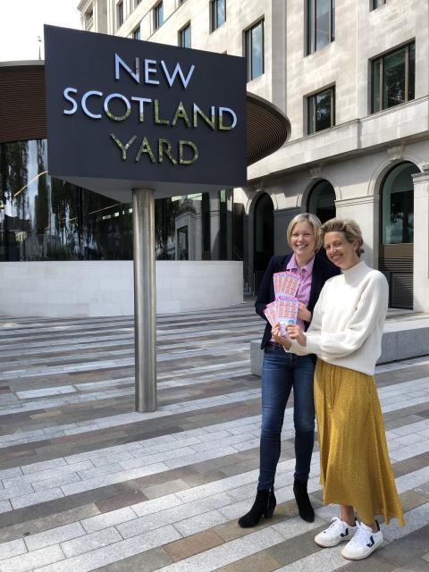 Det Supt Tara McGovern and Helen Addis outside NSY