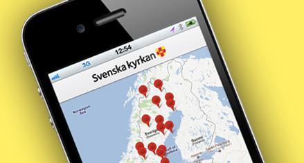 Hitta till bröllopet med appen Kyrkguide