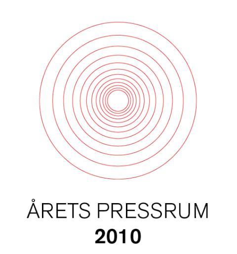 Årets pressrum 2010 koras den 14 december