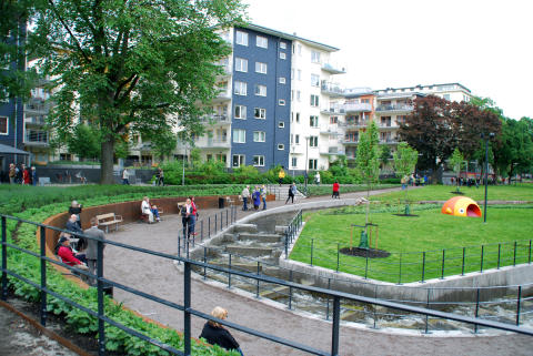 Laxtrappan i Strömparken, Norrköping