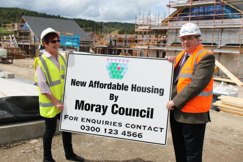 £2.5million low-cost housing development takes shape in Dufftown