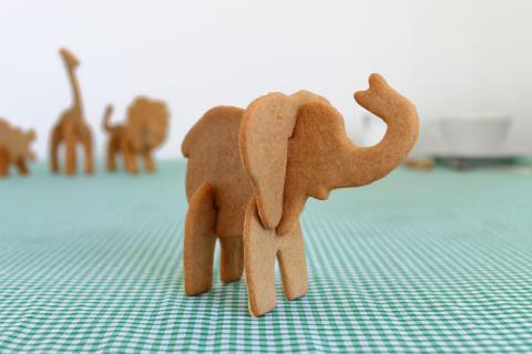 3D pepparkaksform - Elefanten