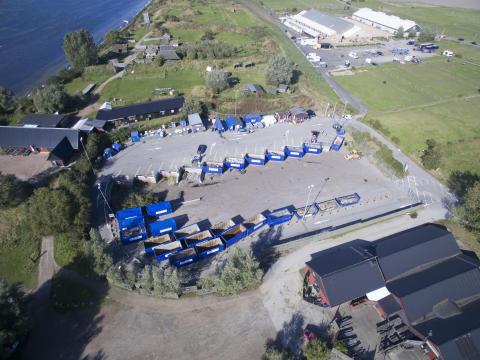 Pågående tester på Lilla Hammar återvinningscentral