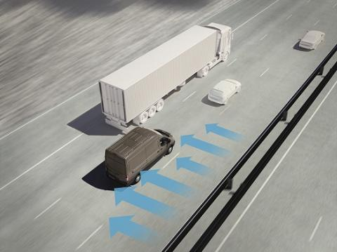 Připraven na zimní vichry: nový systém ochrany proti bočnímu větru pomáhá Fordu Transit držet směr bez ohledu na počasí