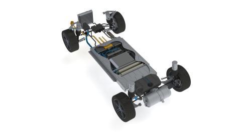 Blue World Technologies' methanol fuel cell vehicle