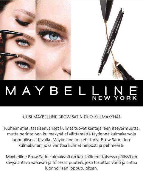 Maybelline Brow Satin -kulmakynä