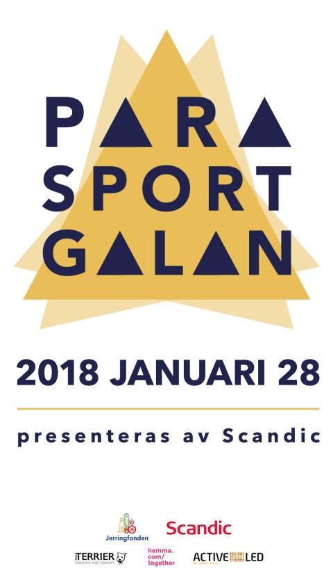 Tid för medieackreditering till Parasportgalan