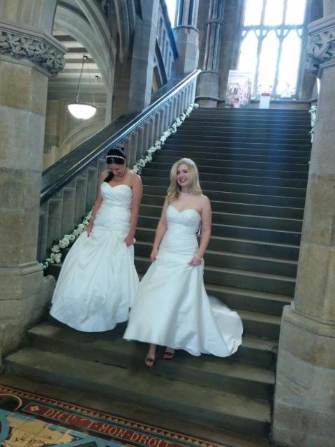 Blushing brides: Models show off the latest bridal fashions