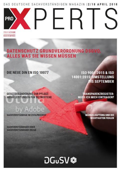 Aktuelle Ausgabe - proXPERTS – Magazin für Sachverständige