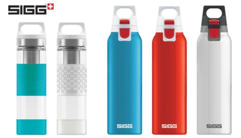 SIGG lanserar dubbelväggiga glastermosar och termosar med enhandsgrepp