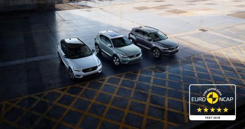 Fem Euro NCAP stjerner til Årets Bil i Europa