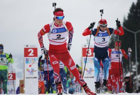 Endre Strømsheim, jaktstart menn ungdom, junior-VM