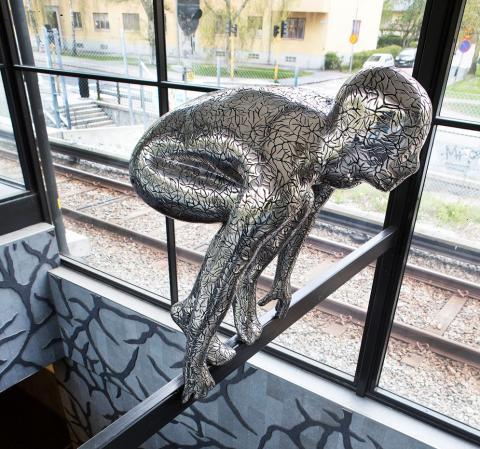 Nytt konstverk av Maria Miesenberger på Enskede gårds tunnelbanestation
