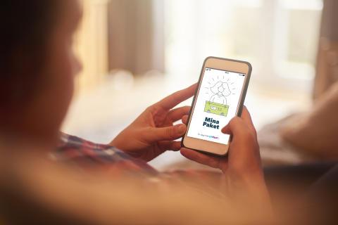 Apotea samlar alla sina leveranser i Unifauns app Mina Paket